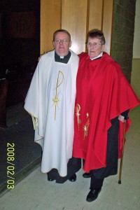 Rev. Barbara and Michel on His ordination Feb. 3, 2008